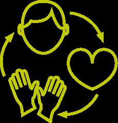 logo hoofd hart handen